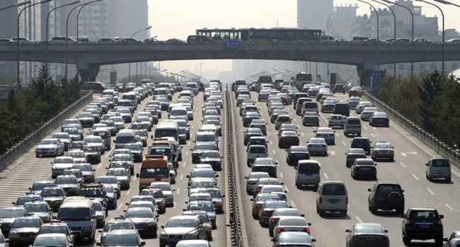 embouteillage beijing chine